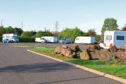 Travellers camped up at the Camperdown Leisure Park