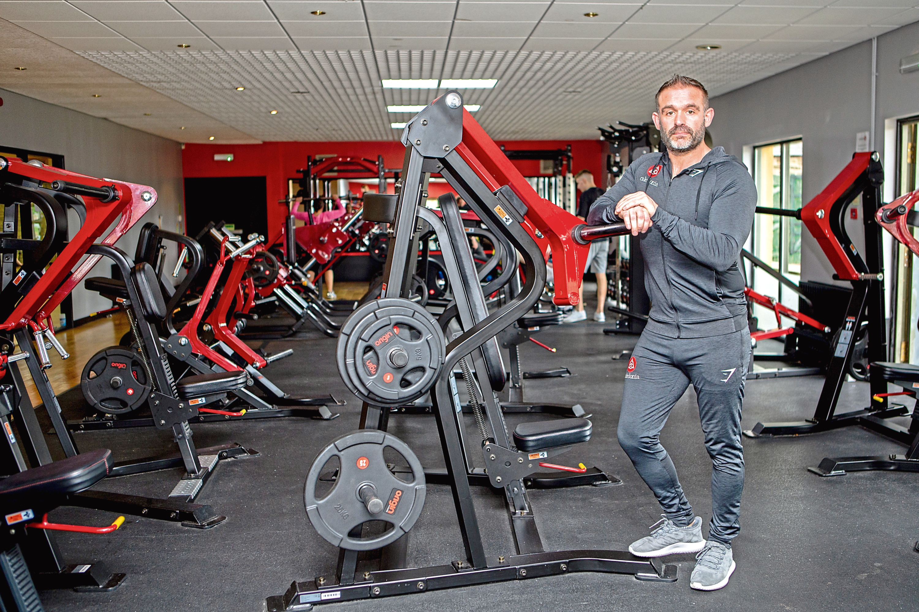 Former soldier Calum Owens in his gym in Carnoustie