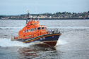 A Broughty Ferry lifeboat in action.