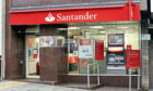 The Santander bank on Lochee High Street
