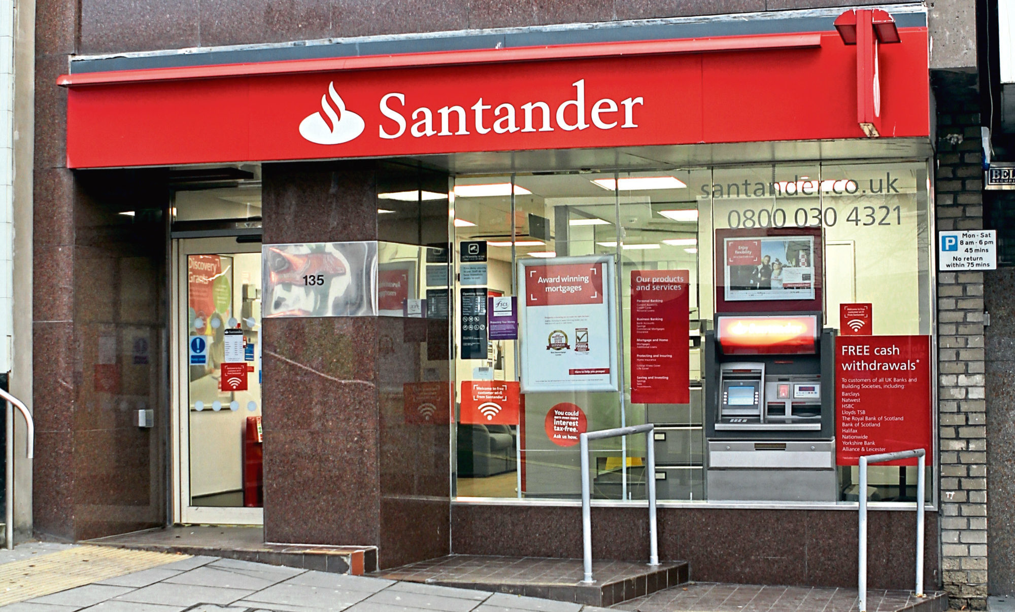 The Santander bank on Lochee High Street