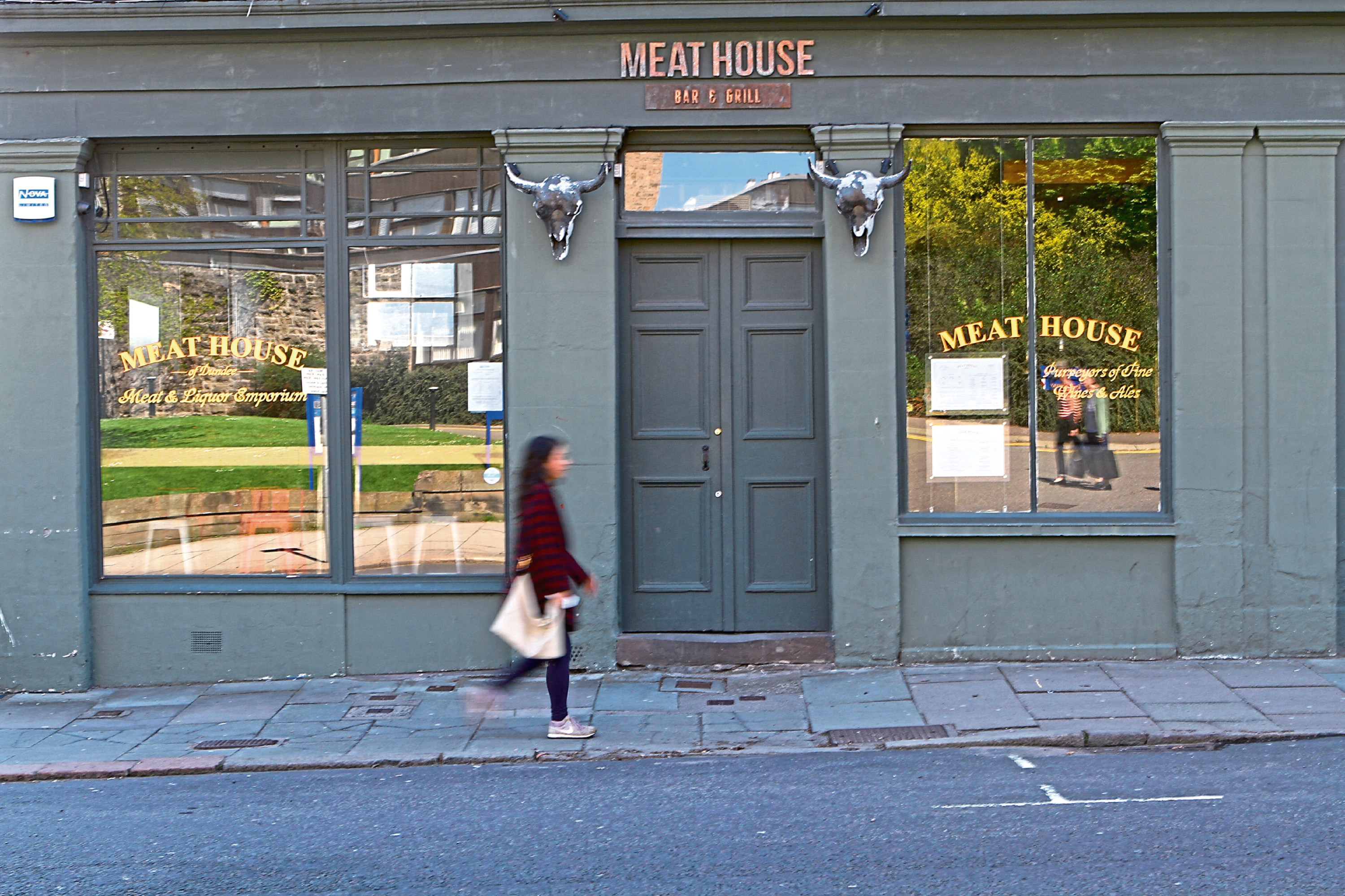The former Meat House restaurant on Perth Road, which has been closed for several weeks.