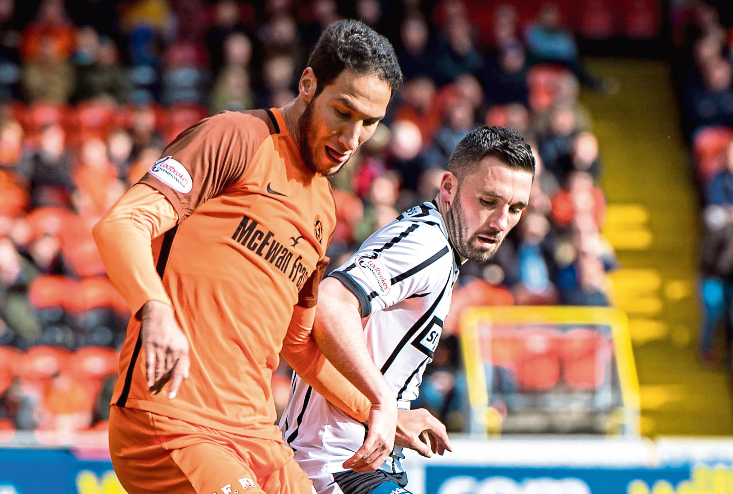 Nicky Clark (right) has been linked with a move to Dundee United.
