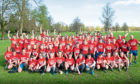 100 Perth High School pupils and staff Park Run Photo, The group of pupils and teachers before the run.