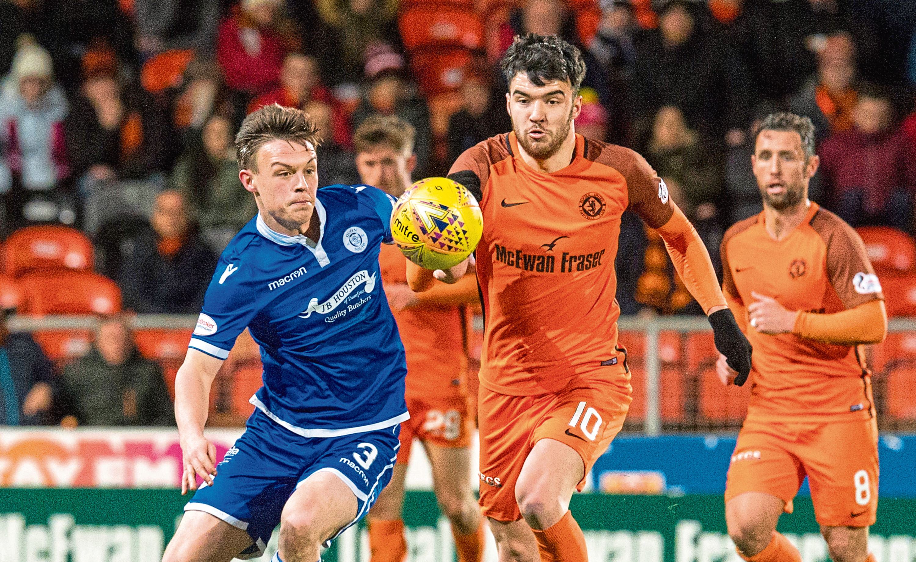 Scott Fraser (right) has announced he's leaving Dundee United – and Burton Albion appear favourites for his signature.
