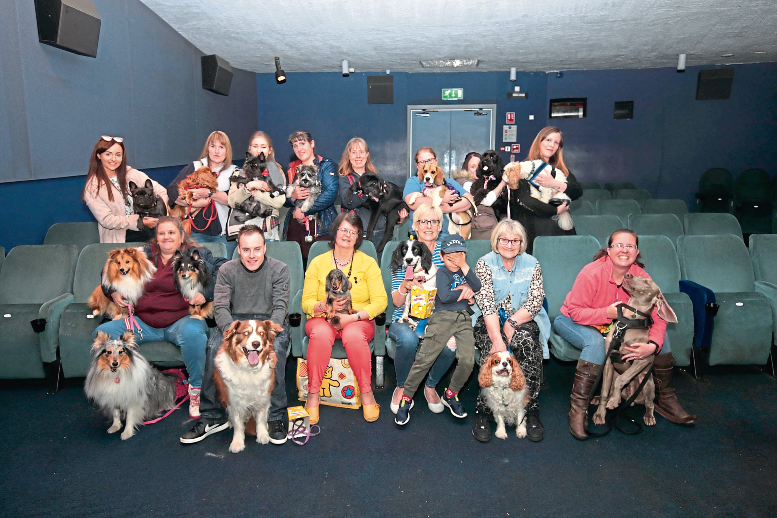 Dogs and owners at the Playhouse in Perth
