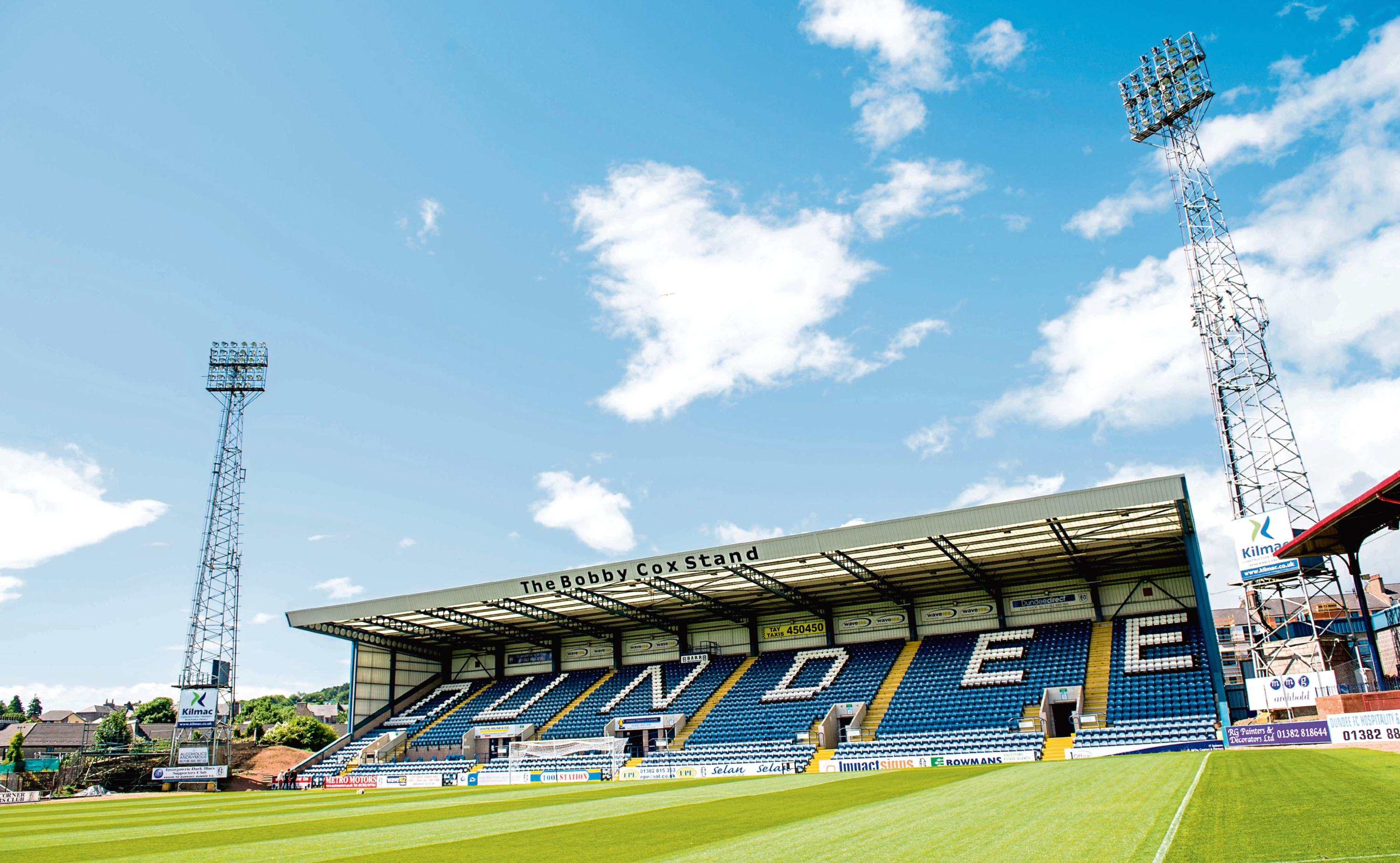 The Bobby Cox stand at Dundee's Dens Park.