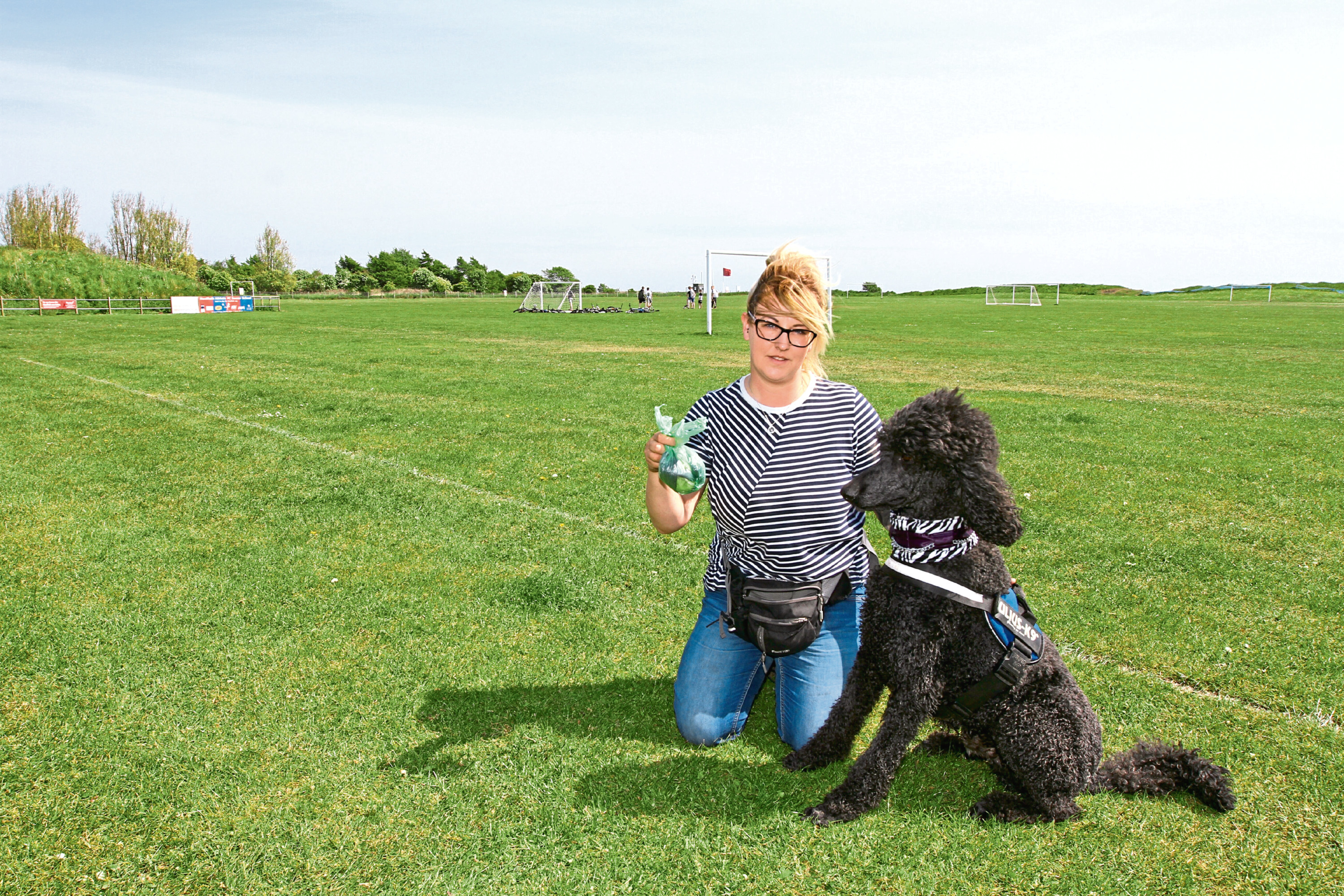 Professional dog walker Andrea Penny has criticised irresponsible owners who don't clean up after their pets.