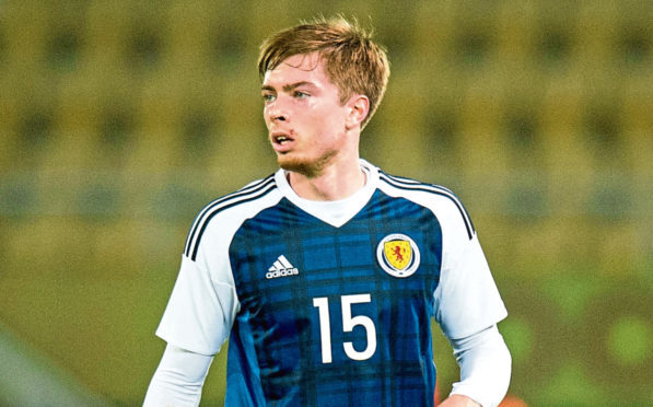 Craig Wighton was a substitute for Scotland in Toulon.
