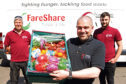 Chris Doig, regional organiser for FareShare Tayside and Fife, with some fresh fruit and veg