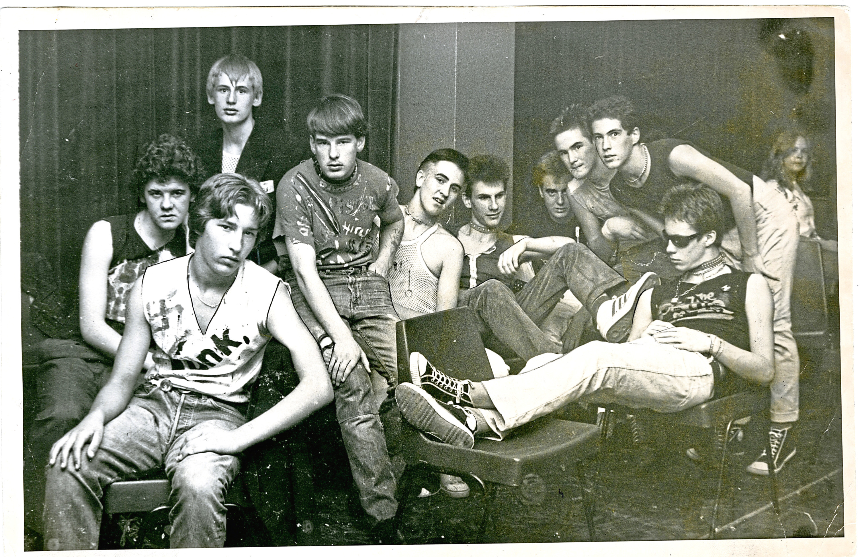 Back in the Day - Monday 28 2018 Punk Rockers pose for a picture in 1977 - no detail given for this picture. B98 1997-09-00 Punk Rockers in 1977 (C)DCT