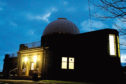 Mills Observatory at night