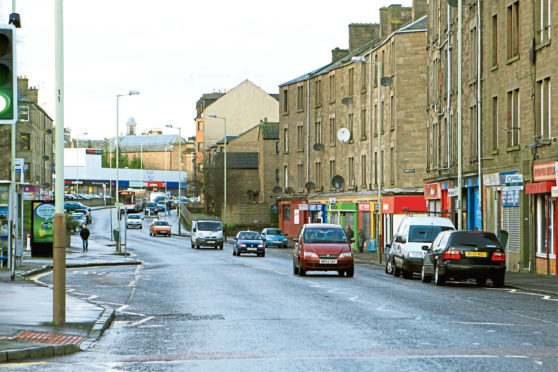 The offence took place in Strathmartine Road (library image).