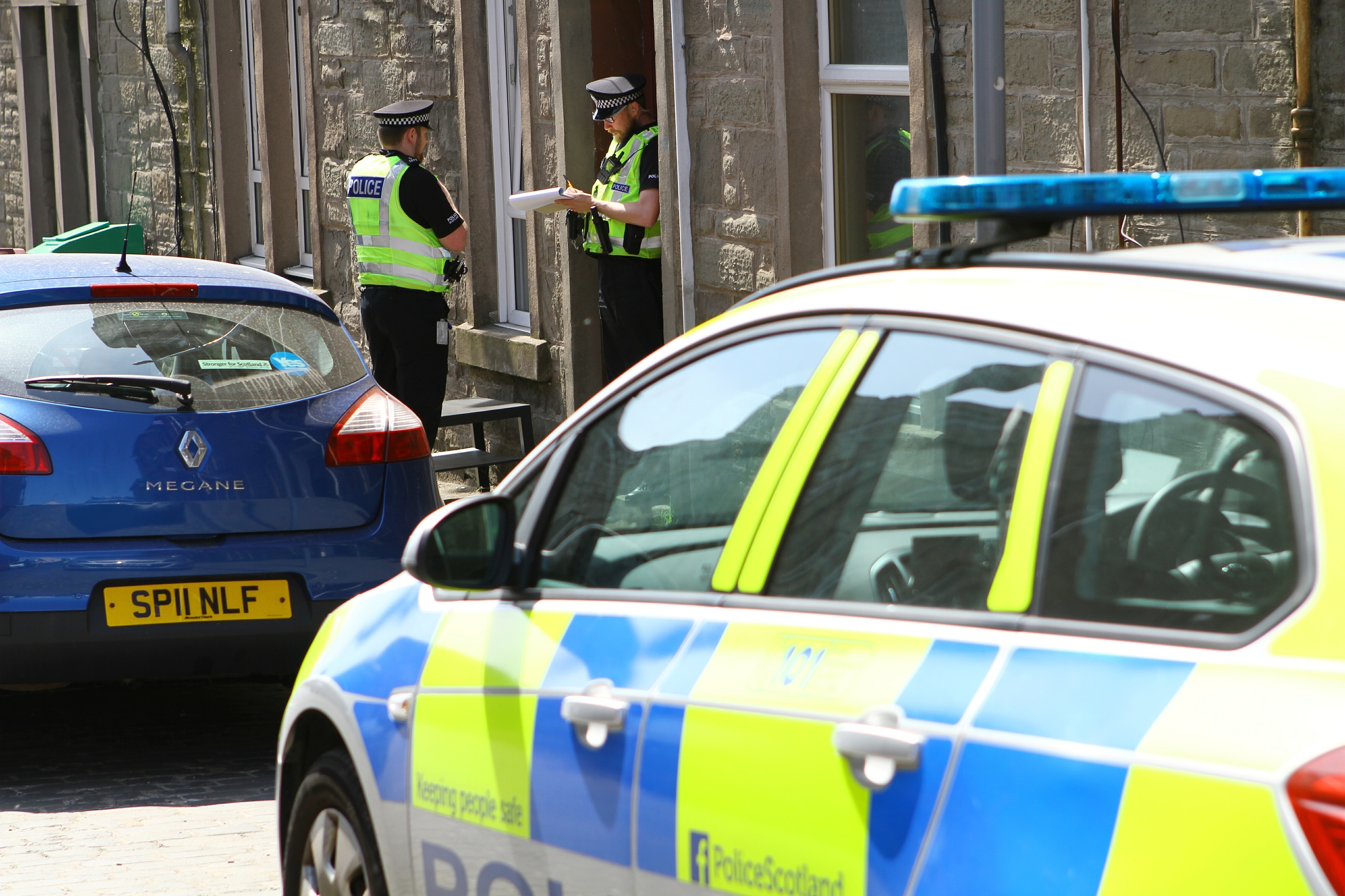 Police at the scene in Brown Constable Street