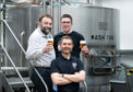 Inveralmond Brewery is supporting the 2018 Perth Beer Festival. Pictured from left to right, Alan Martin from Tan International, Chief Executive Inveralmond Brewery Fergus Clark  and Allan Brown Chief Executive of Perthshire Rugby who host the Perth Beer Festival.