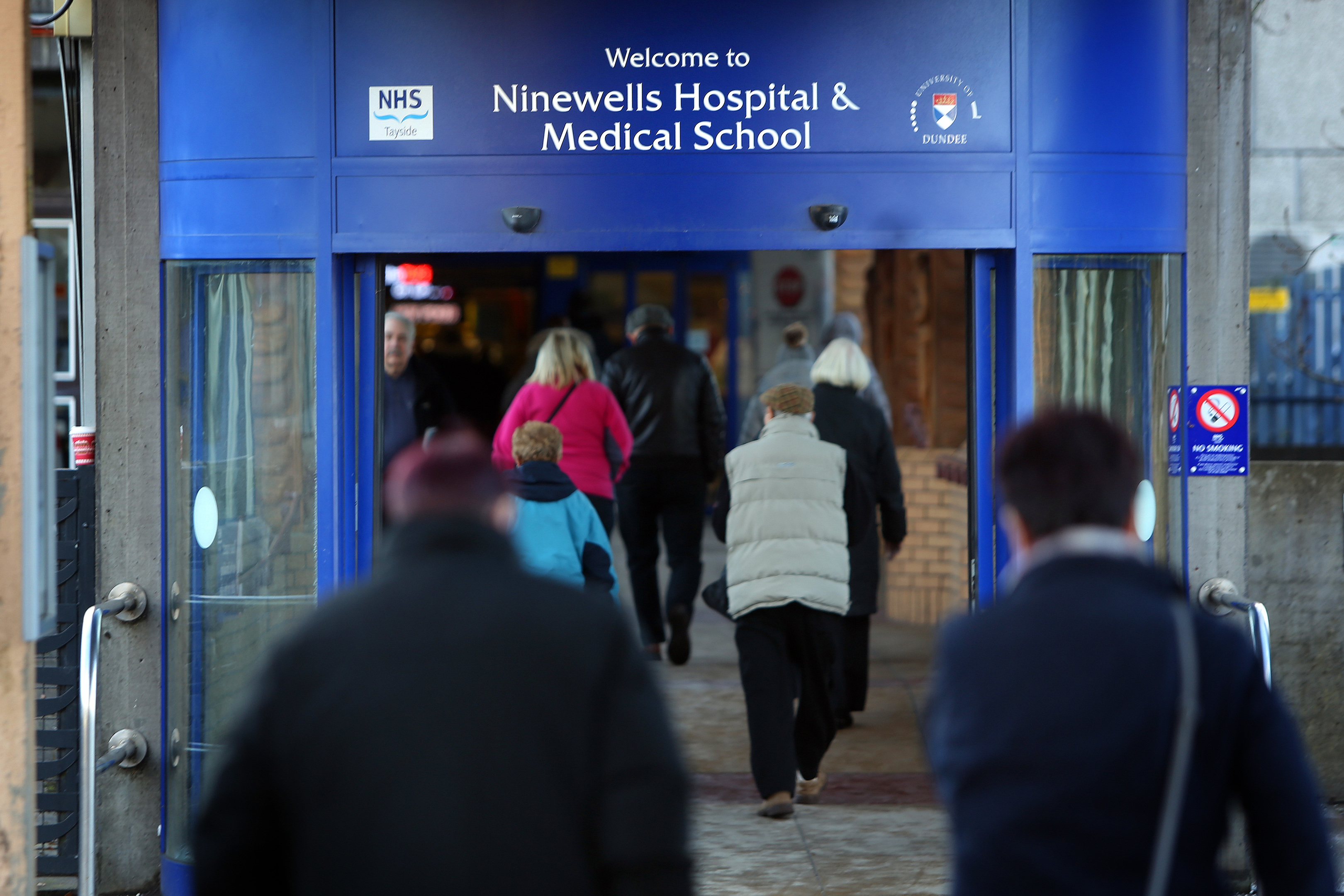The entrance to Ninewells Hospital, NHS Tayside HQ