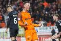 Jamie Robson celebrates scoring his only goal of last season against Falkirk