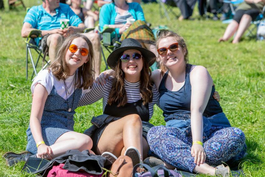Eva Peters (16), Olivia Thomson (16) and Emily Gilliver (16) from Kilmarnock