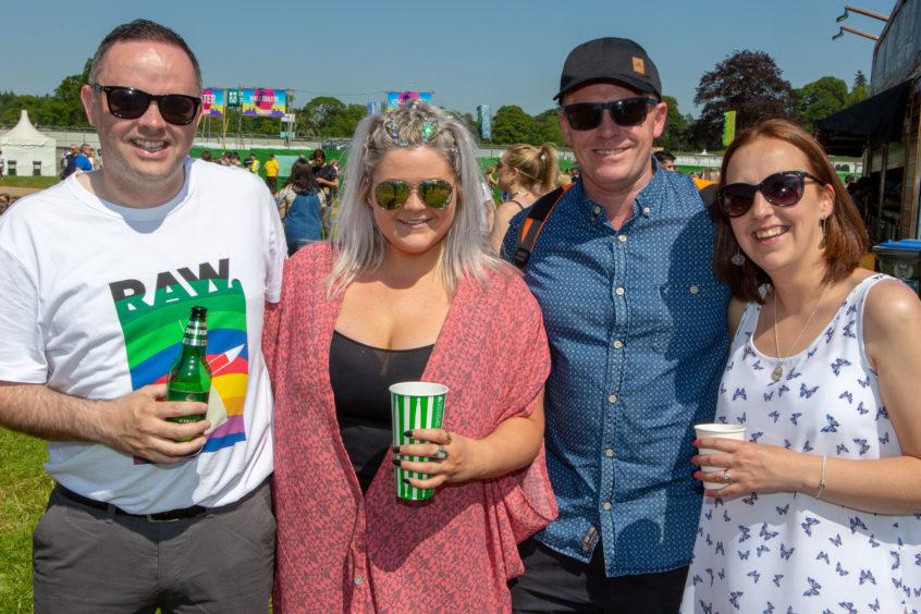 Nicola Brown (34) and Annalie Graf (35), Chris Brown and Craig Rainger from Perth