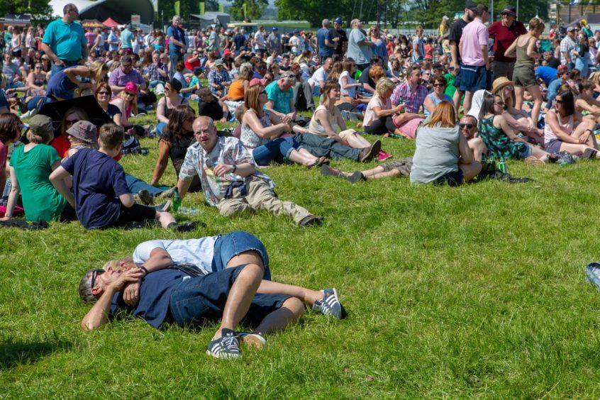 Heat getting too much for some festival go'ers