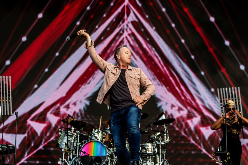 Simple Minds play to a packed arena at BBC Biggest Weekend