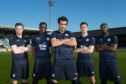Craig Wighton, Glen Kamara, Sofien Moussa, Cammy Kerr and Roarie Deacon in Dundee's new kit