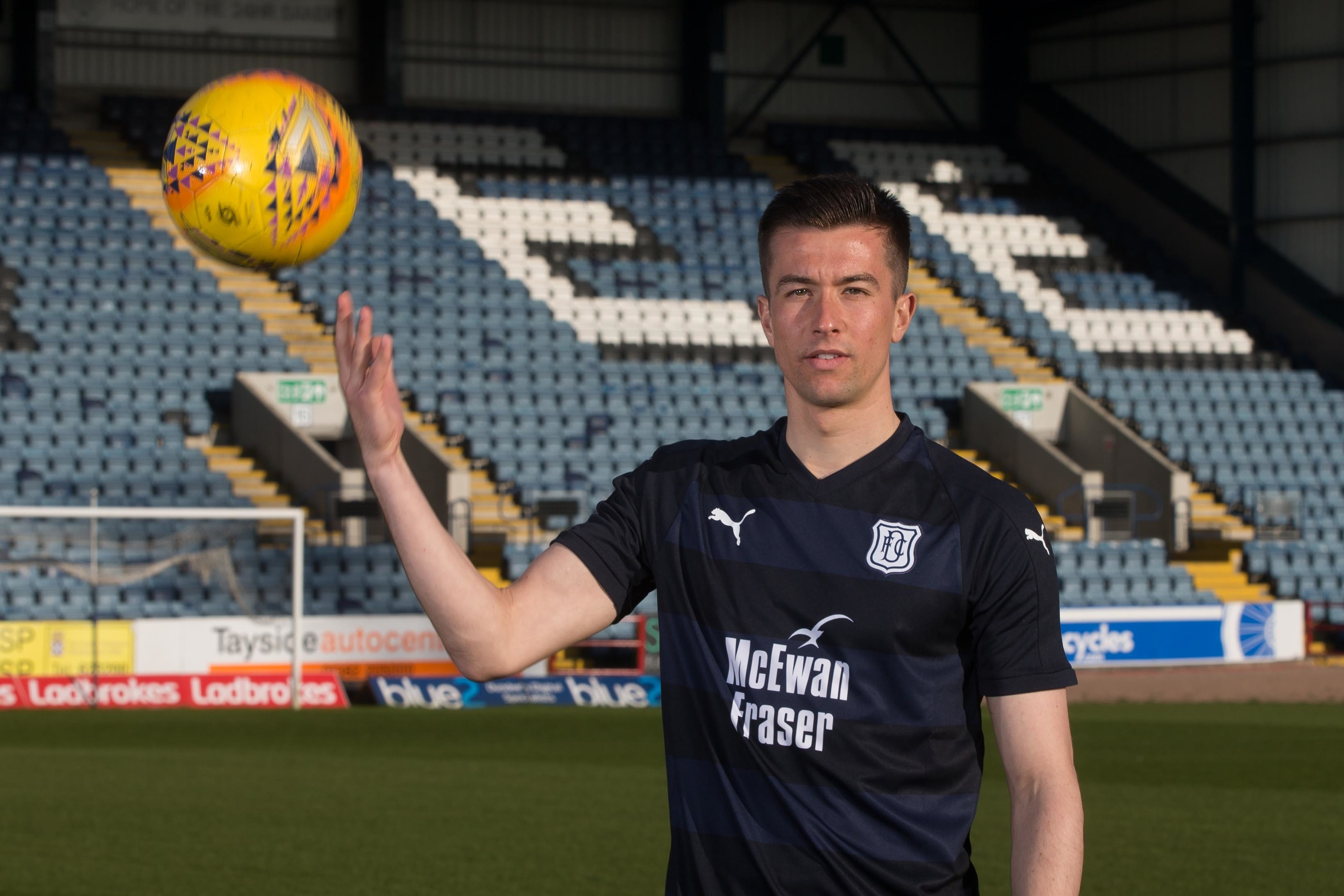 Dundee launched their new home kit for the 2018/19 season at Dens Park on Thursday.