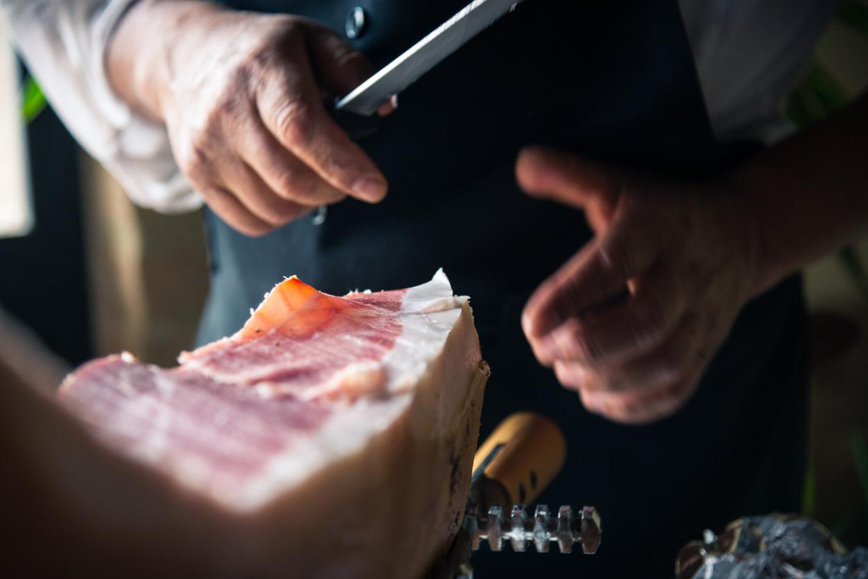 Grocer, butcher, meat