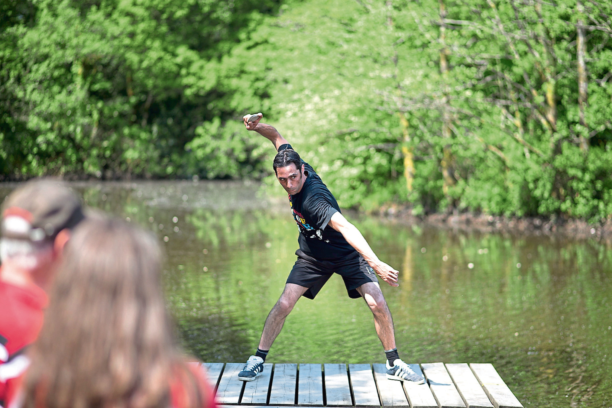 Dougie Isaacs from Blairgowrie achieved the feat during a skimming competition in Wales, two years after setting the record of 351ft