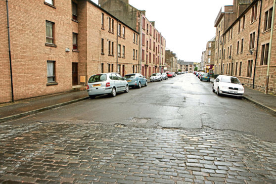 Cleghorn Street, Dundee (stock image)