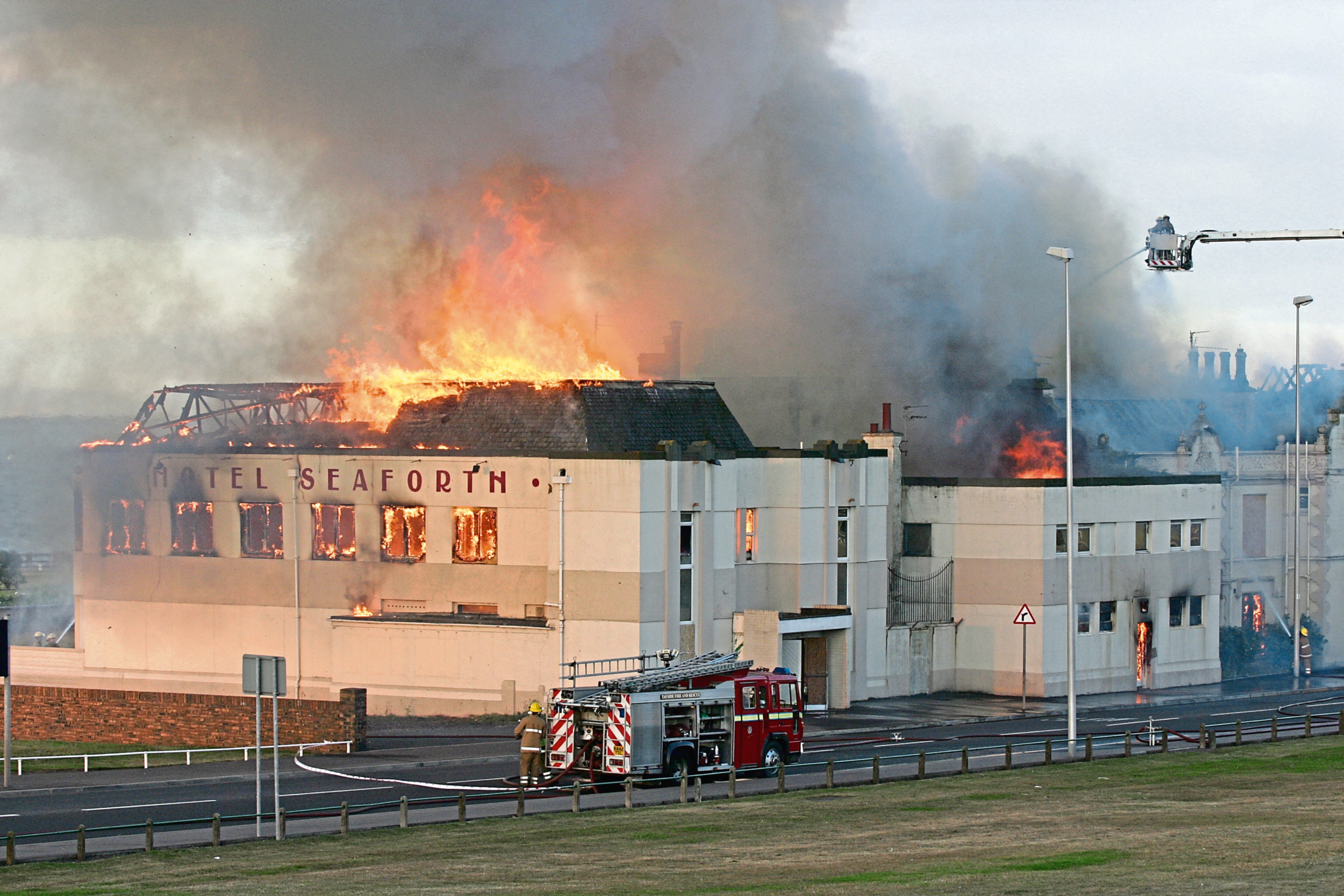 The fire-ravaged Seaforth Hotel in Arbroath in 2006