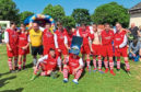 Family and friends of Lee Welsh at the charity football match