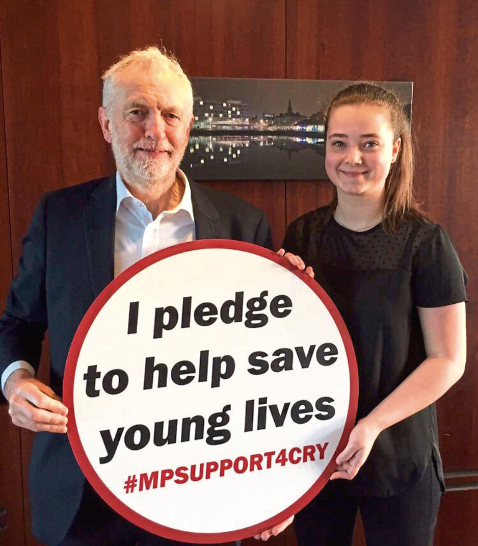 Abby gets the backing of Jeremy Corbyn