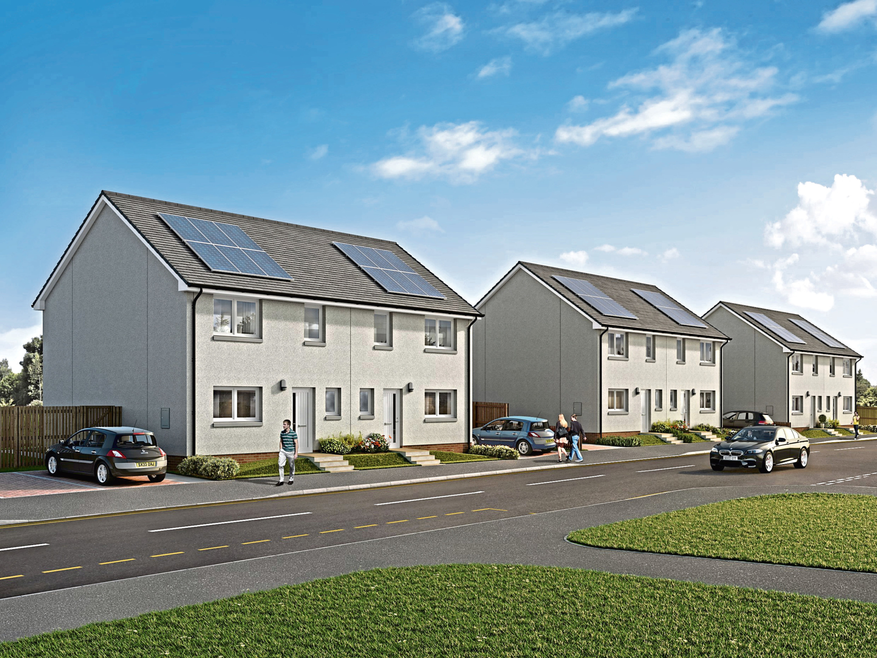 An artist's impression of the new Craigie Fields development in Dundee.