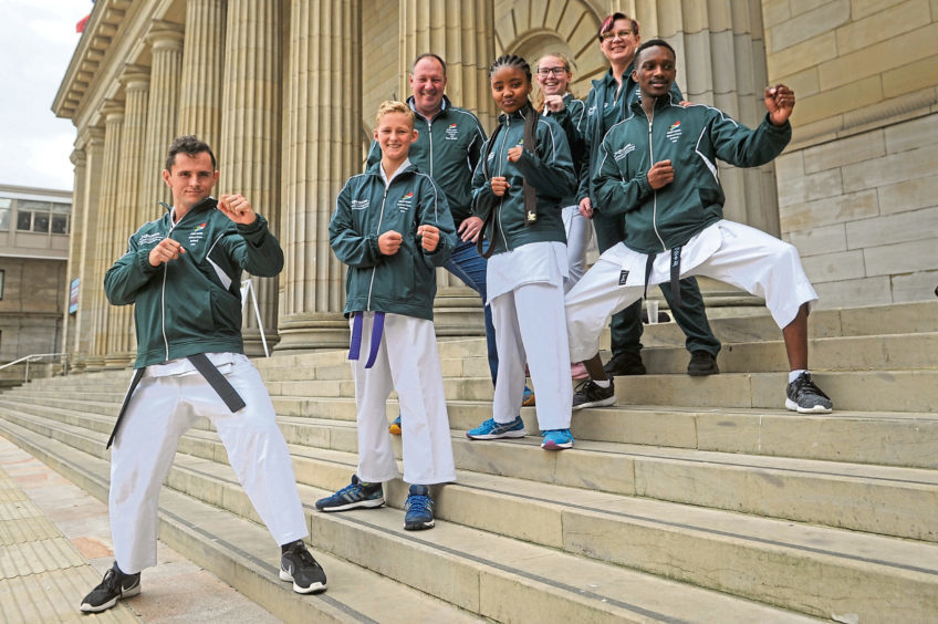 Pictured are some of the South African competitors on the steps of the Caird Hall.