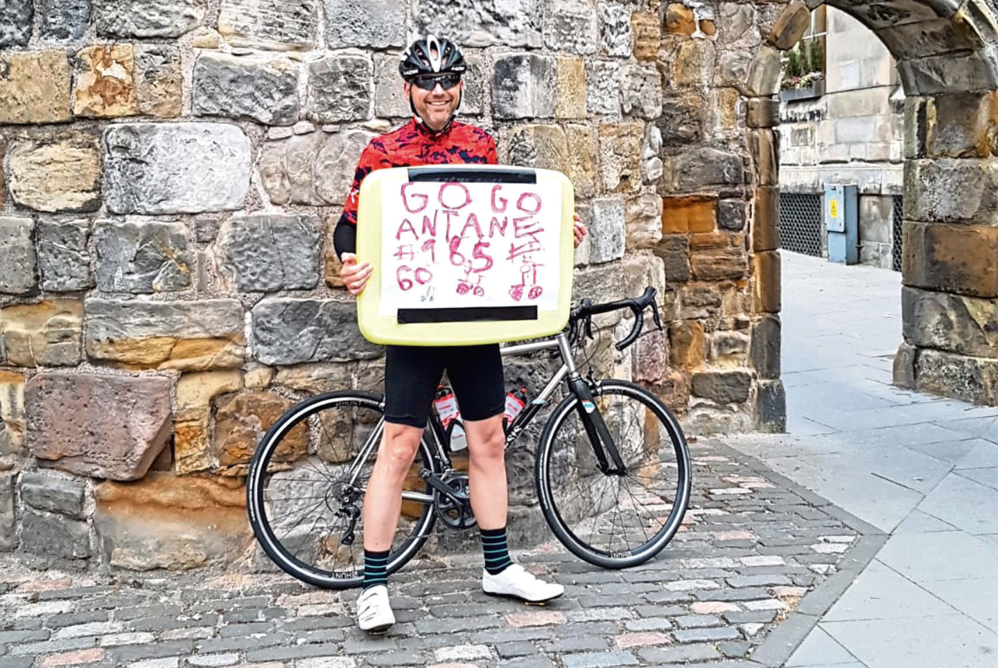 Anthony Revell who cycled 185 miles in one day.