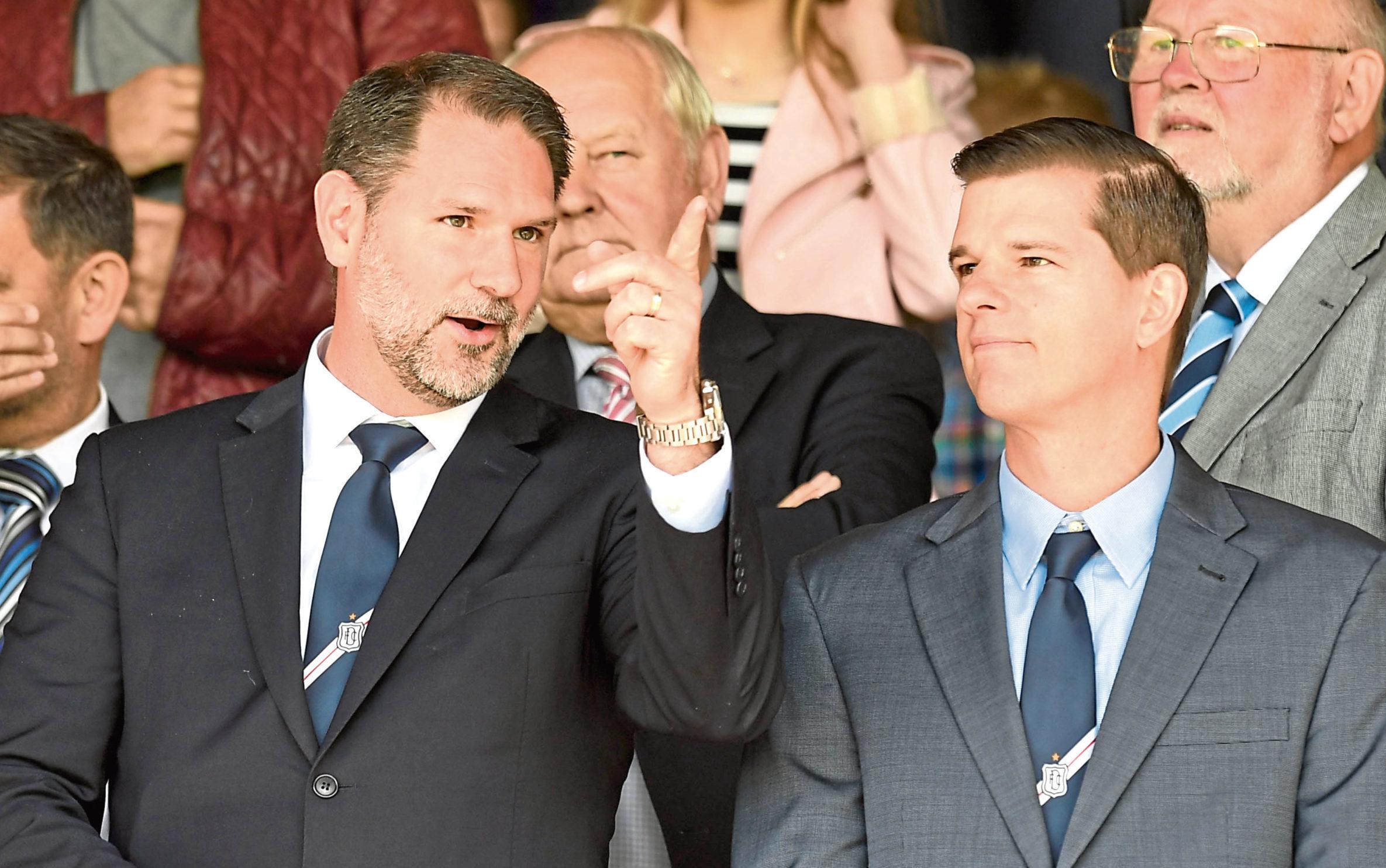 Dundee managing director John Nelms alongside owner Tim Keyes