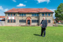 Councillor Kevin Keenan, pictured outside the Downfield Pavilion, has welcomed the upgrade.