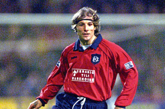 Claudio Caniggia was outstanding for Dundee before leaving to join Rangers