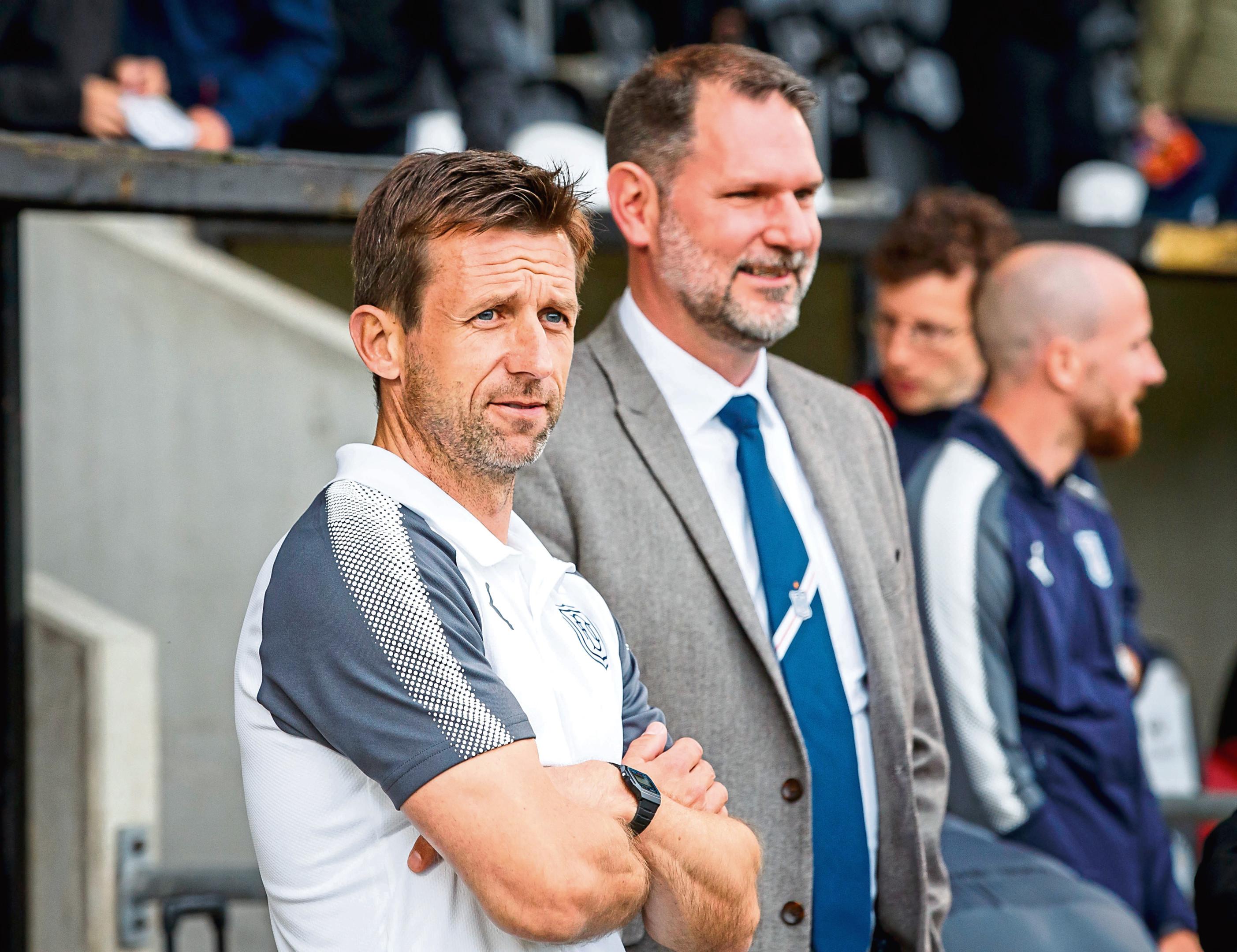 Neil McCann and Dundee chief John Nelms