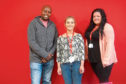John Gatehi, Siobhan Easson and Lisa Cooney from Shelter Scotland.