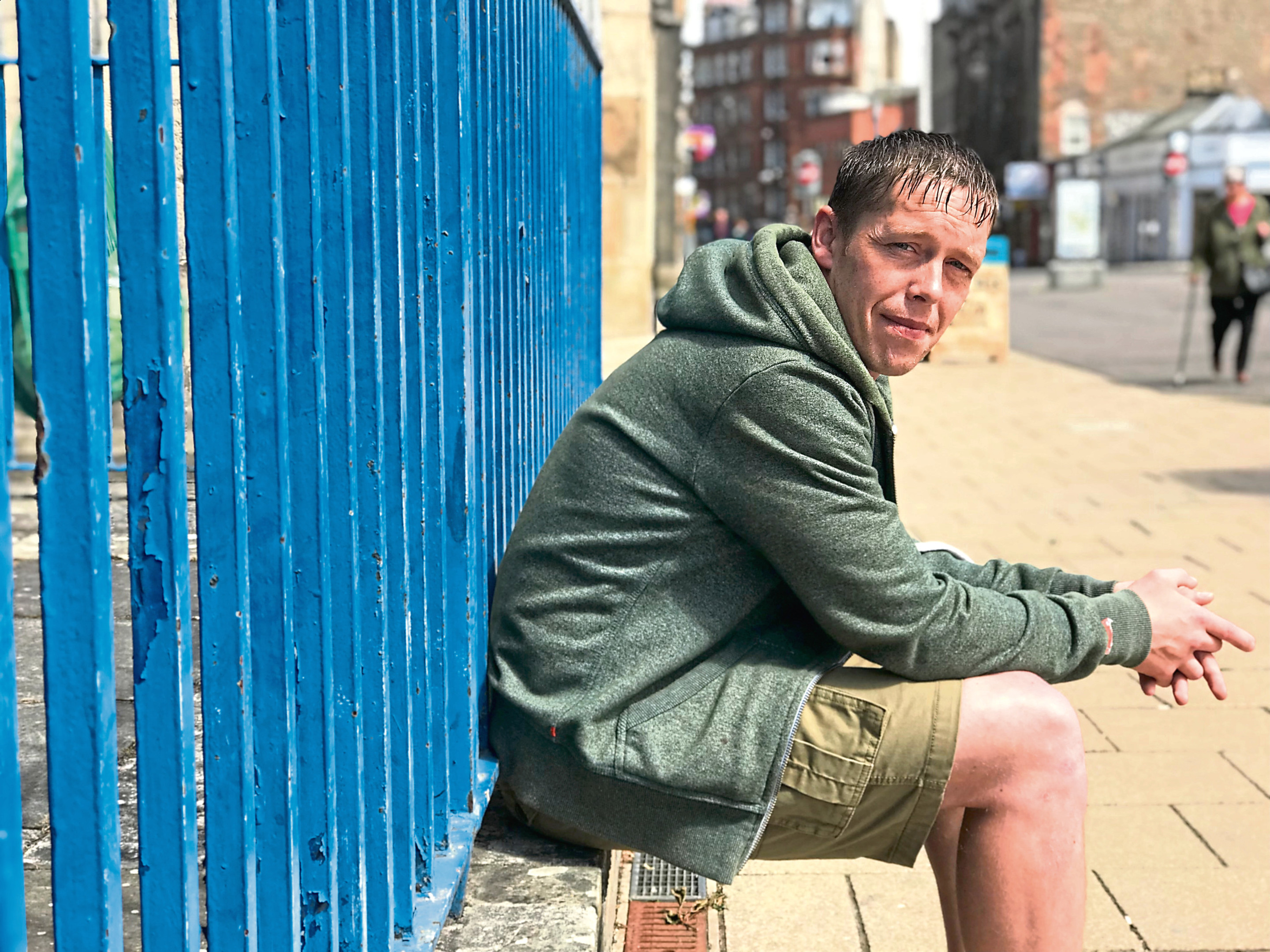 John McCabe was previously homeless but is now a mentor for people who also struggle in similar situations.