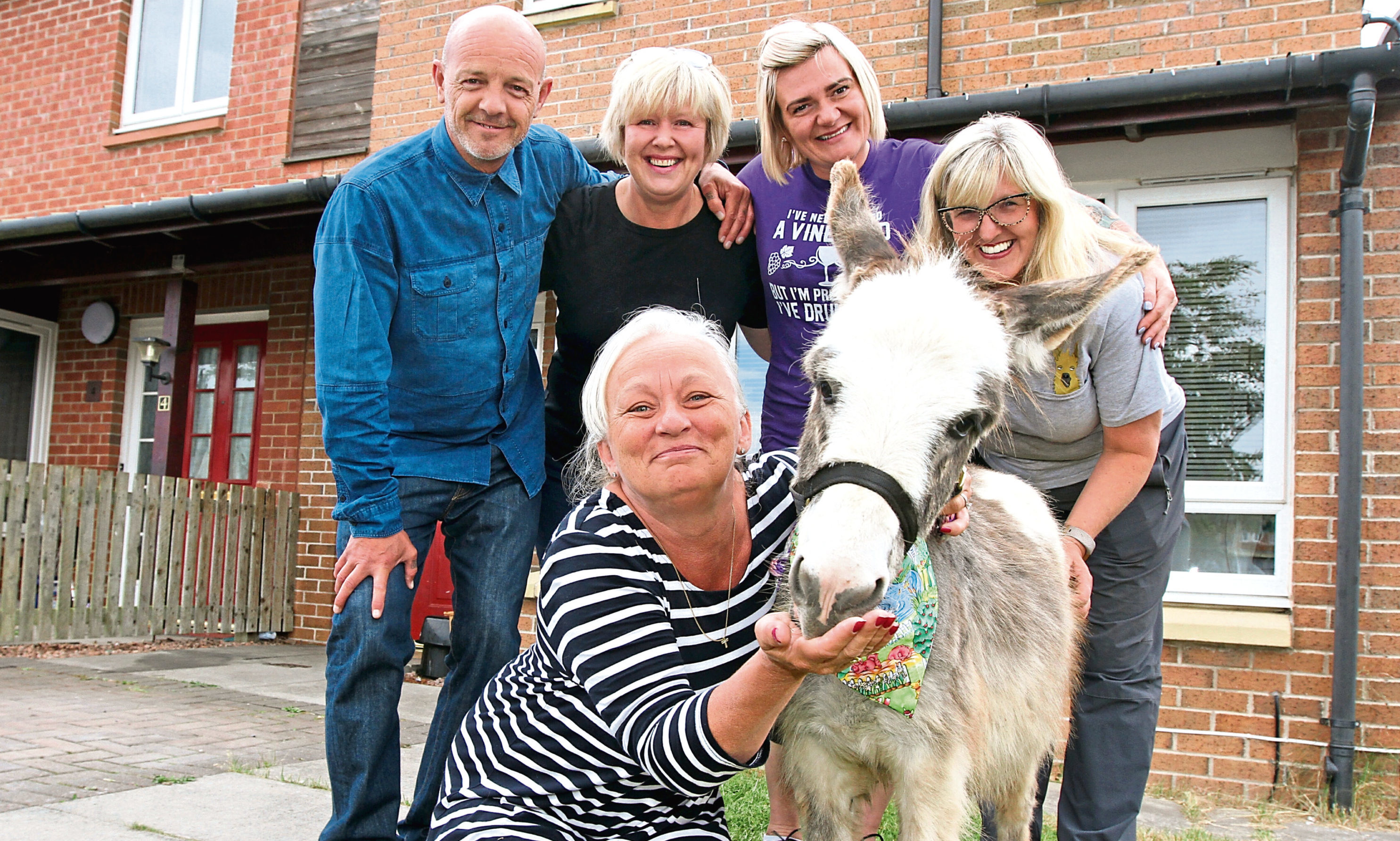 Sandra, Scott and Nicky with Julie Norrie and Alison Wiseman of Balnuith Farm