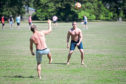 Volleyball fun in Baxter Park