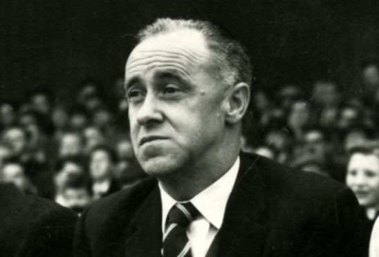 Bob Shankly as Dundee manager in 1959.