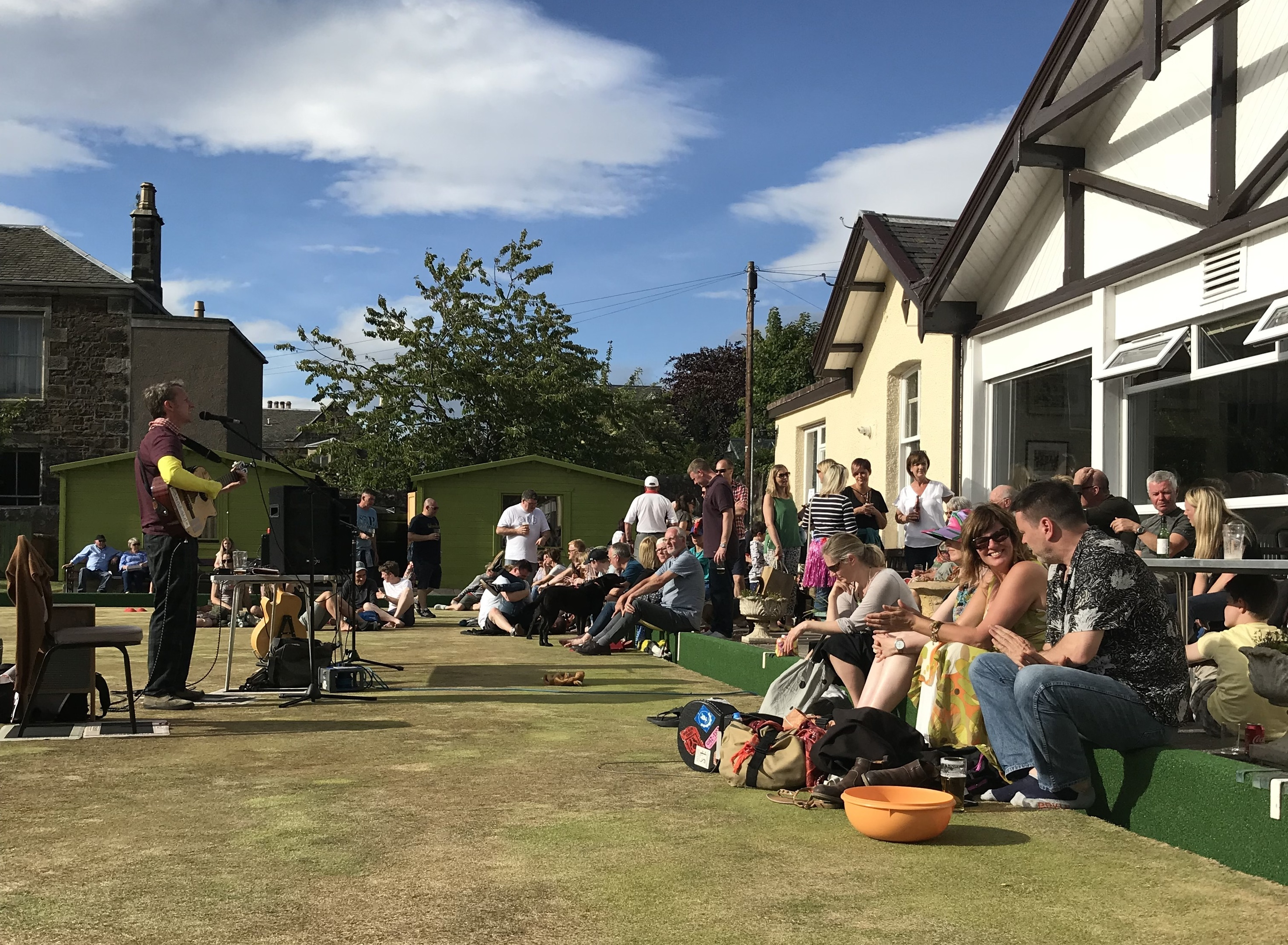 Revellers enjoy sunshine and song at the Newport Festival