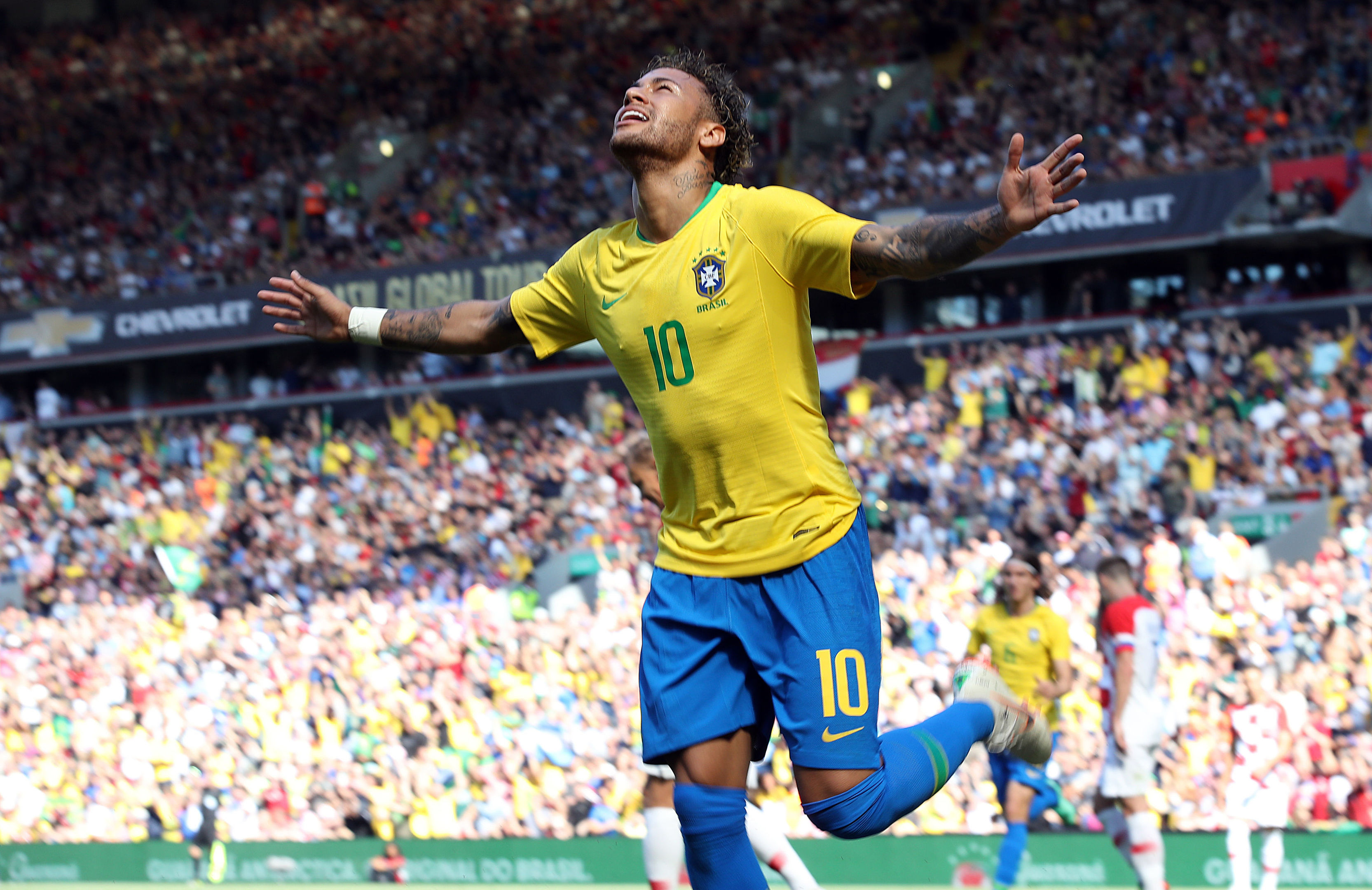 Neymar will be hoping to lead Brazil to glory once more in a World cup.