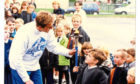 Back in the Day - Monday 4 June 18 Peace Runner for the Sri Chinmoy Peace Run at Douglas Primary School in 1997.  B98 1997-10-21 Sri Chinmoy Peace Run (C)DCT  T+P 21/10/1997