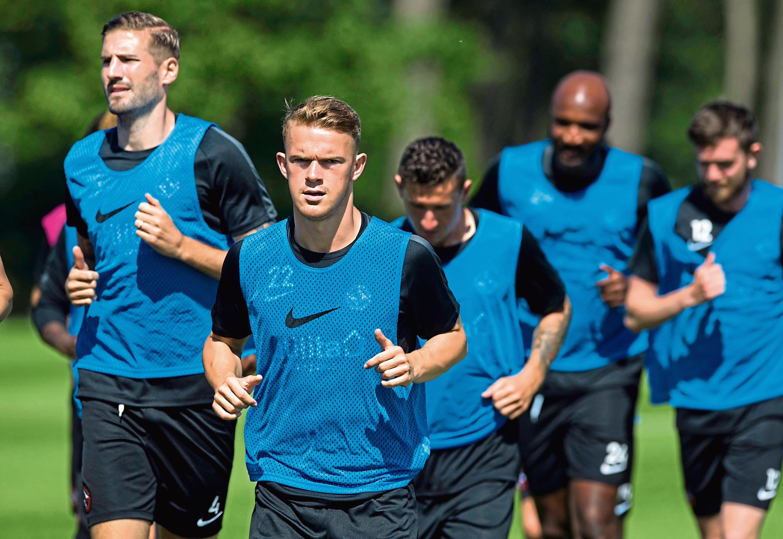 Dundee United's Sam Wardrop in training