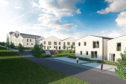 An artist's impressions of proposals for the redevelopment of Ellengowan Estate by Architects Collective Architecture